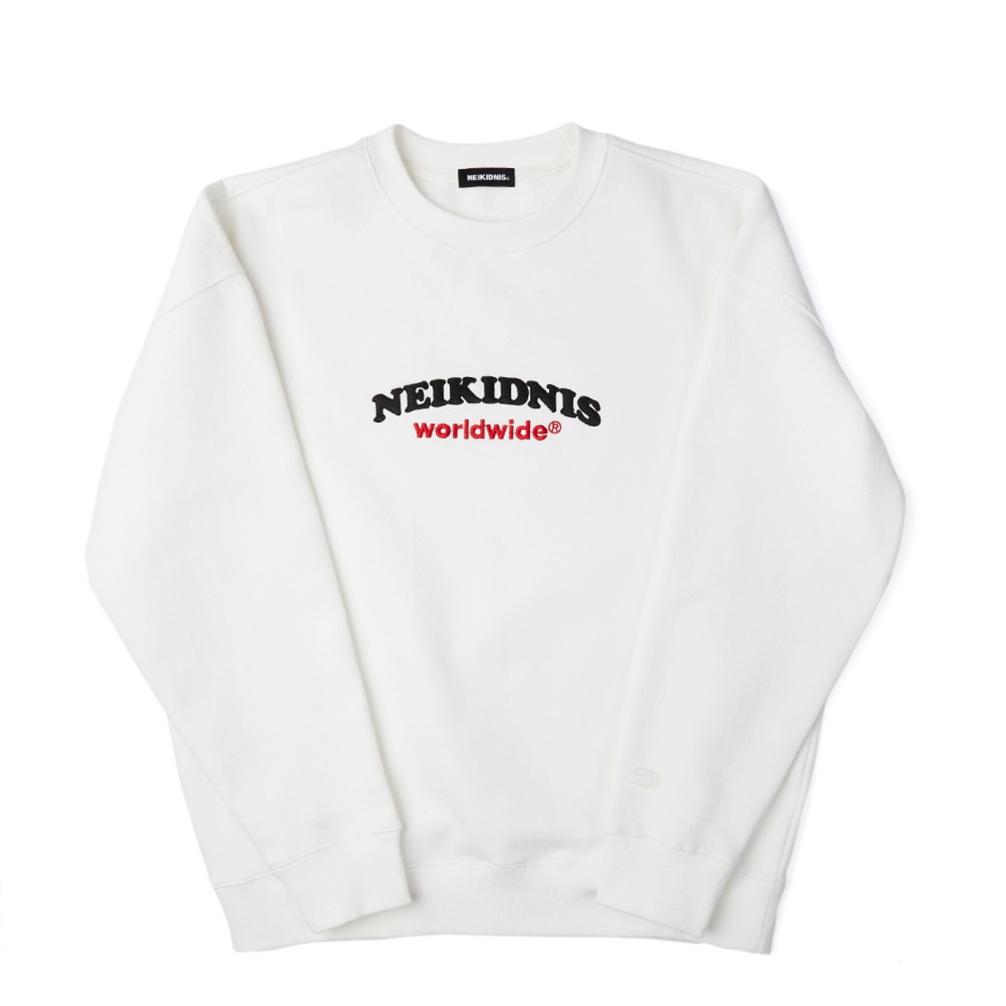 [기모] WORLD LOGO SWEAT SHIRT / IVORY