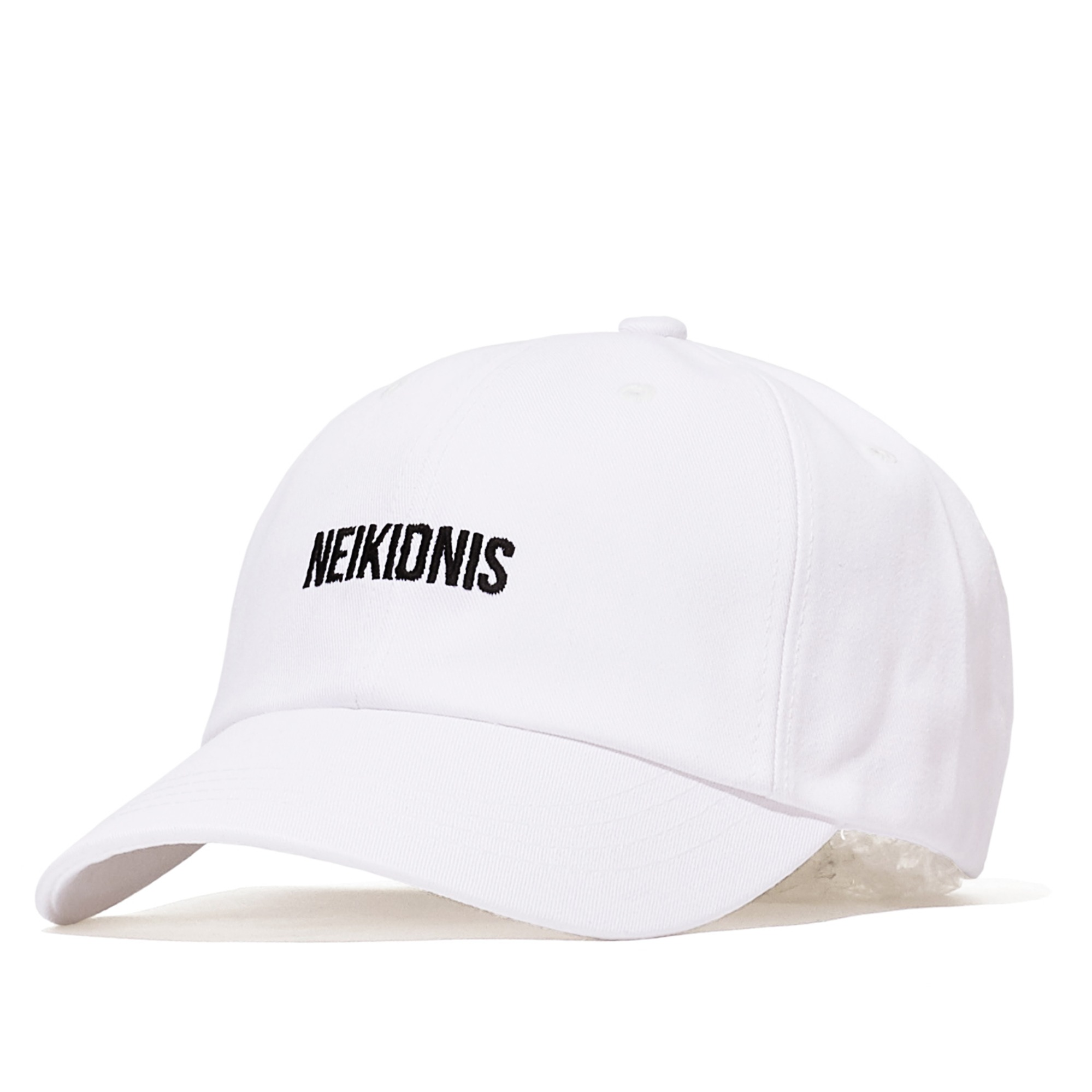LOGO COTTON BALL CAP / WHITE