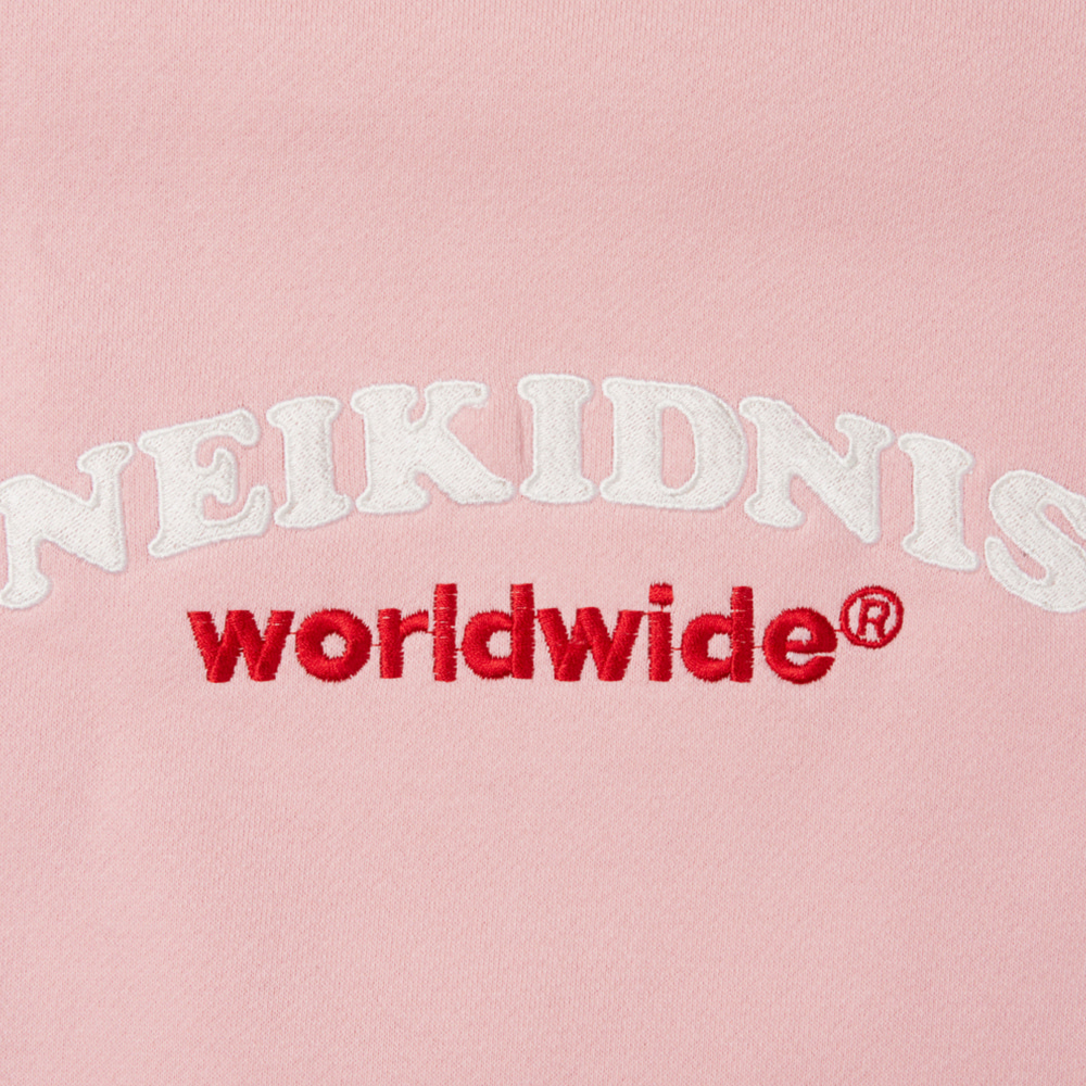[기모] WORLD LOGO SWEAT SHIRT / PINK