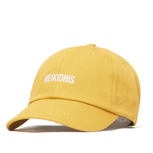LOGO COTTON BALL CAP / MUSTARD