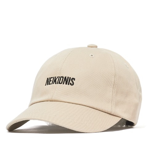 LOGO COTTON BALL CAP / BEIGE