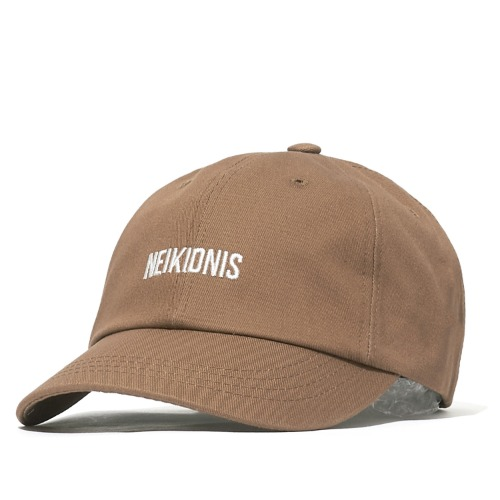 LOGO COTTON BALL CAP / BROWN